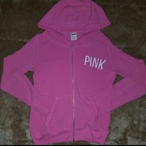 VS Pink Full zip light weight hoodie